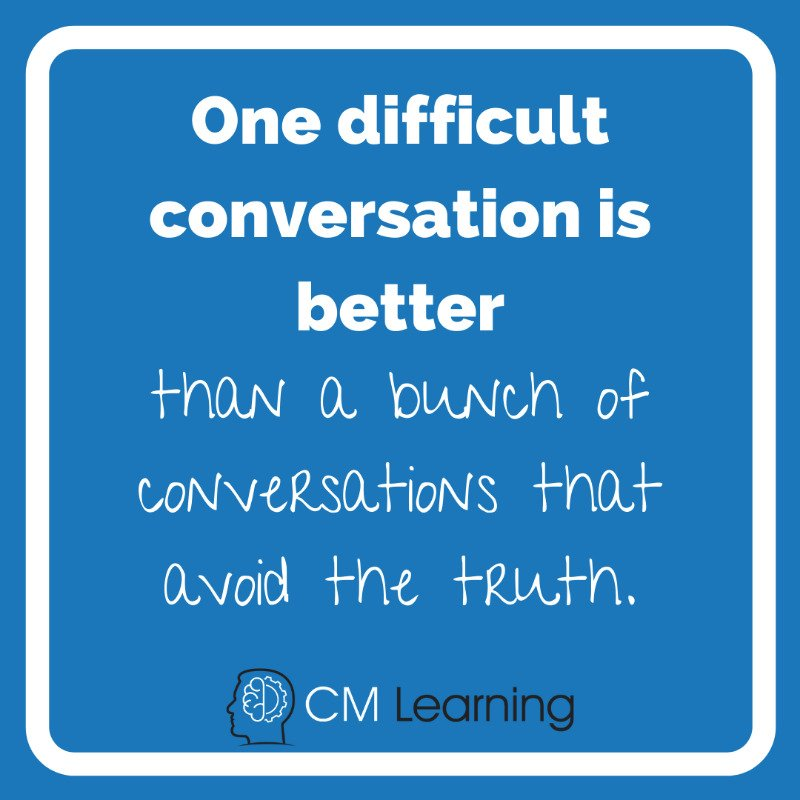 CM Learning - difficult conversations quote