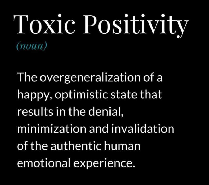 CM Learning - Toxic Positivity Definition