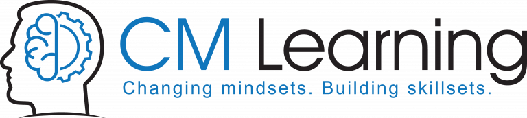 CM Learning | logo with tagline