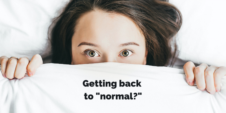 Getting back to normal blog | CM Learning